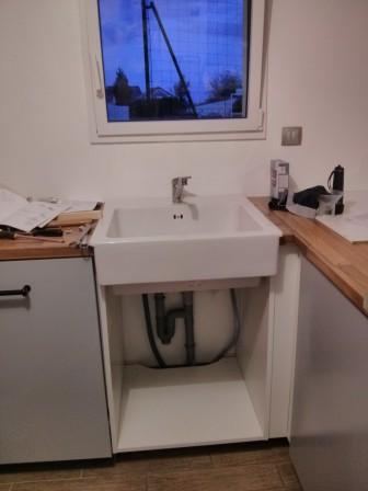 Montage de notre cuisine ikea metod notre maison rt2012 - Meuble evier lave vaisselle ikea ...