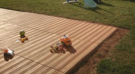 construire sa terrasse sur de la terre meuble notre maison rt2012 par trecobat. Black Bedroom Furniture Sets. Home Design Ideas