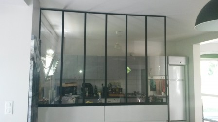 faire une verri re int rieure style atelier pas cher notre maison rt2012 par trecobat. Black Bedroom Furniture Sets. Home Design Ideas