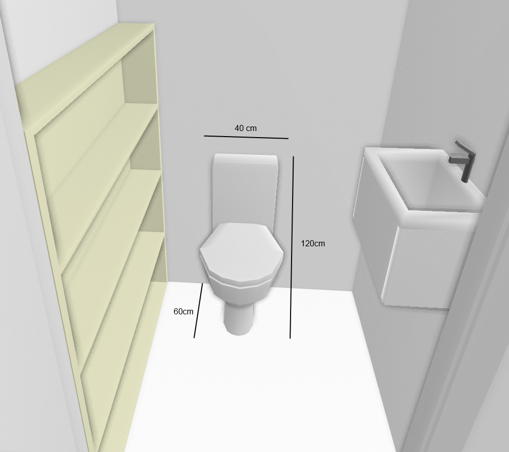 Wc suspendu dimension design d 39 int rieur et id es de meubles for Interieur wc suspendu